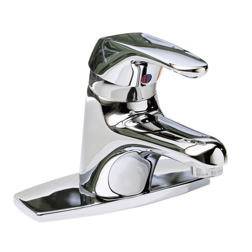 Seva Monoblock Single Hole Single Handle Bathroom Faucet in Polished Chrome