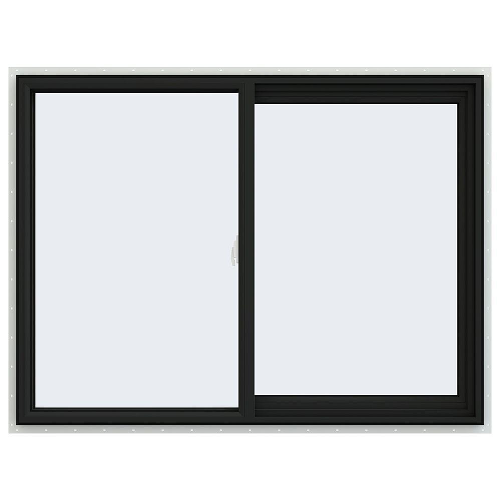 JELD-WEN 47.5 in. x 35.5 in. V-2500 Series Right-Hand Sliding Vinyl Window - Bronze
