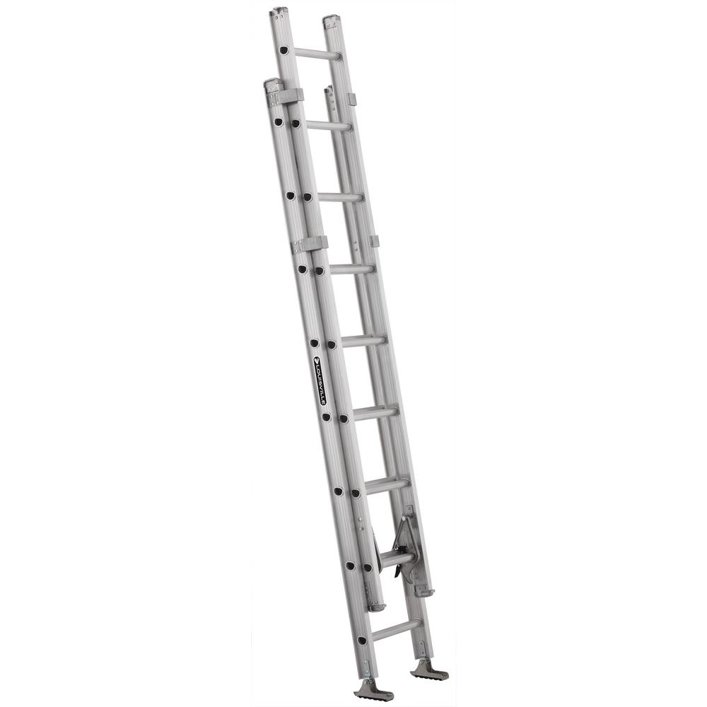 Louisville 16 ft. Aluminum Extension Ladder with 375 lbs....
