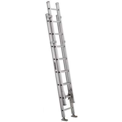 16 ft. Aluminum Extension Ladder with 375 lbs. Load Capacity Type IAA Duty Rating