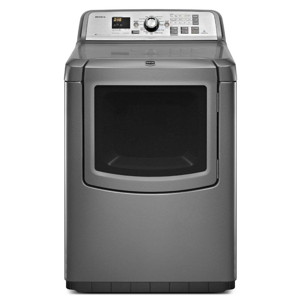 Maytag Bravos XL 7.3 cu. ft. Electric Dryer with Steam in Granite