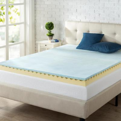 Swirl Gel Cooling 4 in. King Memory Foam Mattress Topper