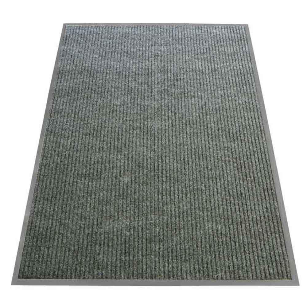 Ribbed Polypropylene Gray 3 ft. x 6 ft. Polypropylene Carpet Mat