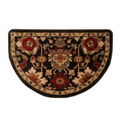 Lancaster Black 2 ft. 2 in. x 3 ft. 3 in. Hearth Indoor Rug