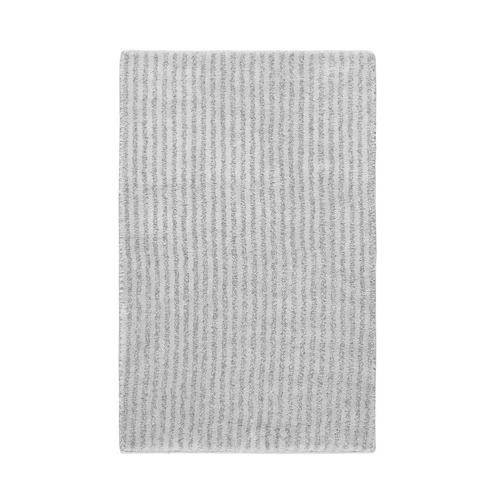 Sheridan Platinum Gray 24 in. x 40 in. Washable Bathroom Accent