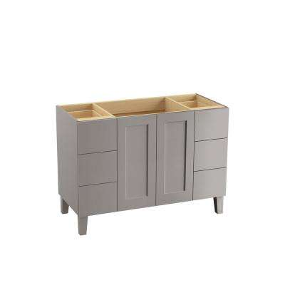 Poplin 48 in. W Bath Vanity in Mohair Grey
