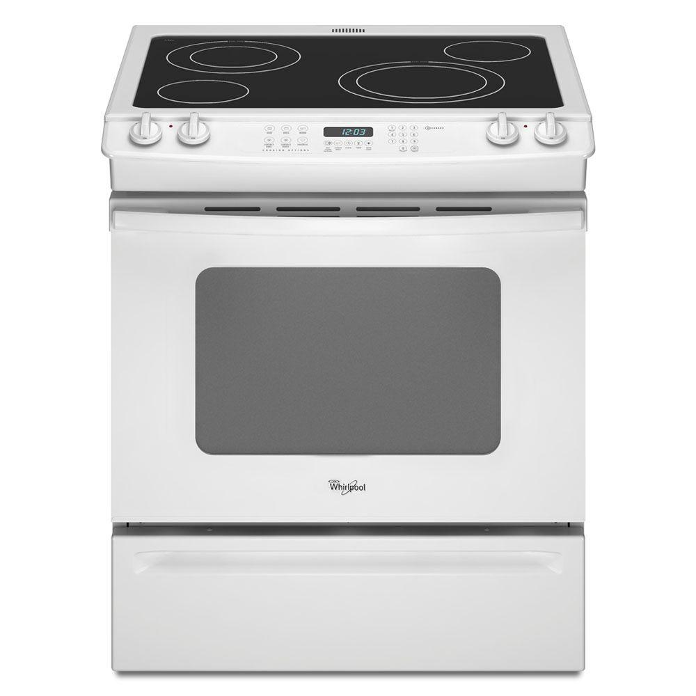 Whirlpool Gold 4.5 cu. ft. Slide-In Electric Range with Self-Cleaning Convection Oven in White