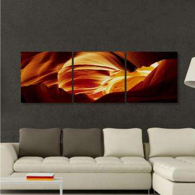 """20 in. x 60 in. """"Antelope Caves"""" Printed Canvas Wall Art"""