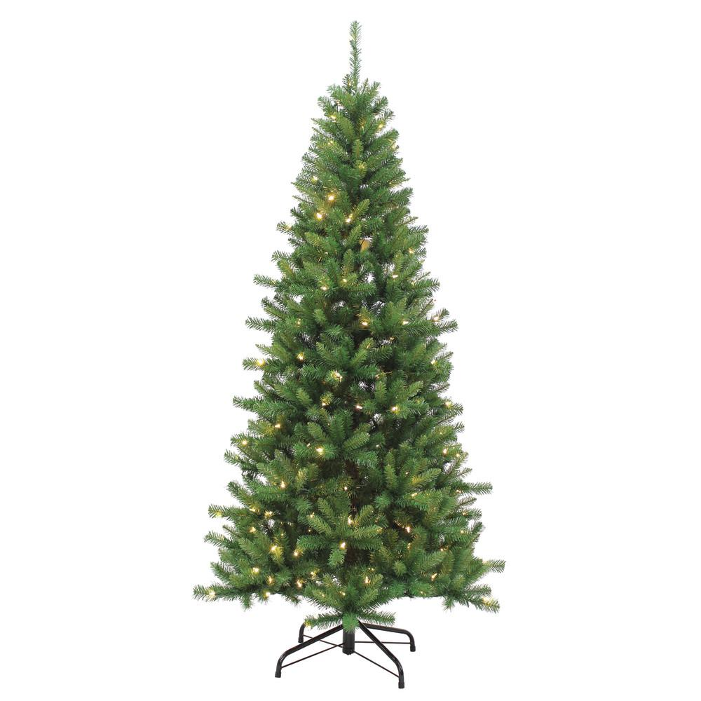 Sterling 7.5 ft. Pre-Lit LED Kingston Pine Artificial Christmas tree ...