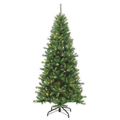 7.5 ft. Pre-Lit LED Kingston Pine Artificial Christmas tree with Color Changing Function