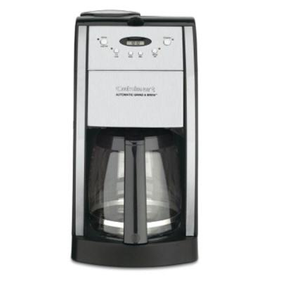 Grind and Brew 12-Cup Automatic Black Drip Coffee Maker with Built-In Grinder