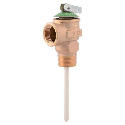3/4 in. Bronze NCLX Temperature and Pressure Relief Valve with 1-1/4 in. Shank MNPT Inlet x FNPT Outlet