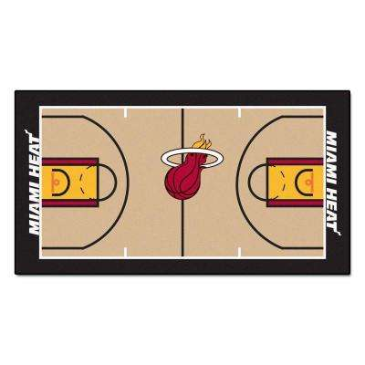 Miami Heat NBA 2 ft. x 4 ft. NBA Court Runner Rug