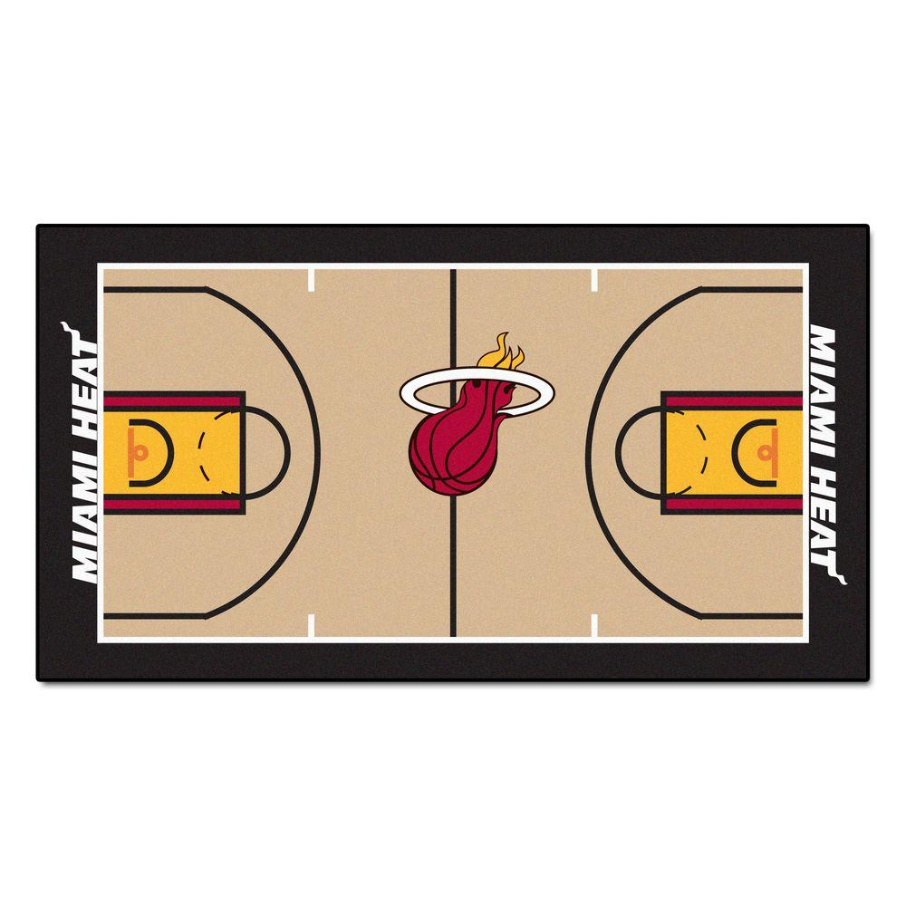 Fanmats Miami Heat Nba 2 Ft X 3 Ft 8 In Nba Court Rug
