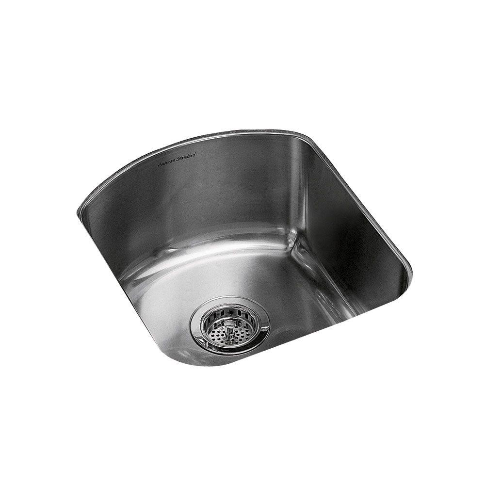 American Standard Culinaire Undercounter Mount Stainless Steel 15.125x17.75x8 0-Hole Single Bowl Island Sink-DISCONTINUED