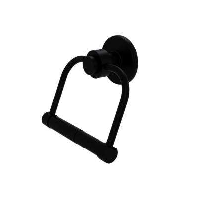 Mercury Collection Single Post Toilet Paper Holder in Matte Black