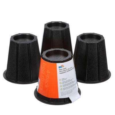Black Bed Risers(Set of 4)