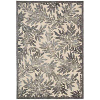 Graphic Illusions Ivory 3 ft. 6 in. x 5 ft. 6 in. Area Rug