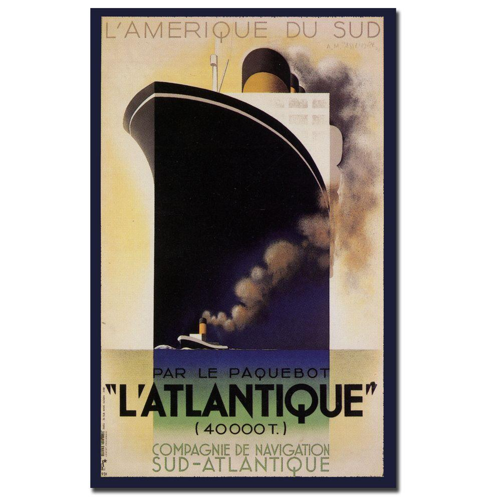 Trademark Fine Art 19 in. x 14 in. L'Amerique de sud L'Atlantique Canvas Art