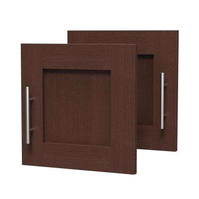 0.75 in. D x 15 in. W x 15 in. H Madison Door Kit for Utility Wall Cabinet Melamine Closet System with Handle in Mocha
