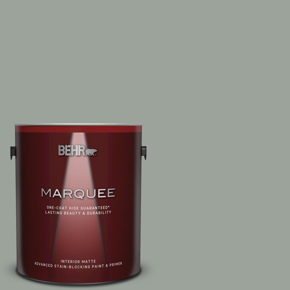 710f 4 Sage Gray One Coat Hide Matte Interior Paint And Primer In