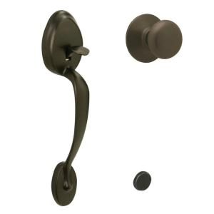 Schlage Plymouth Oil Rubbed Bronze Entry Door Handle With