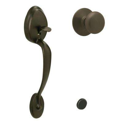 Plymouth Oil Rubbed Bronze Entry Door Handle with Plymouth Knob
