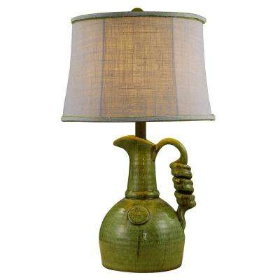 24 in. Green Table Lamp