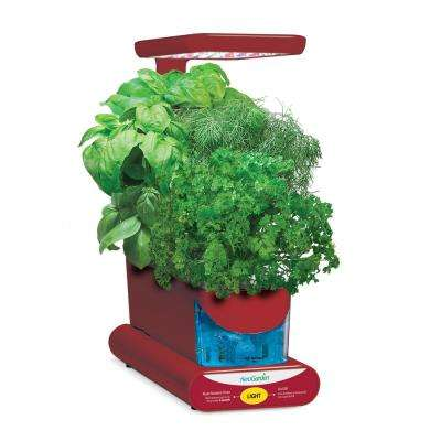 AeroGarden Sprout LED with Gourmet Herb Seed Pod Kit in Red