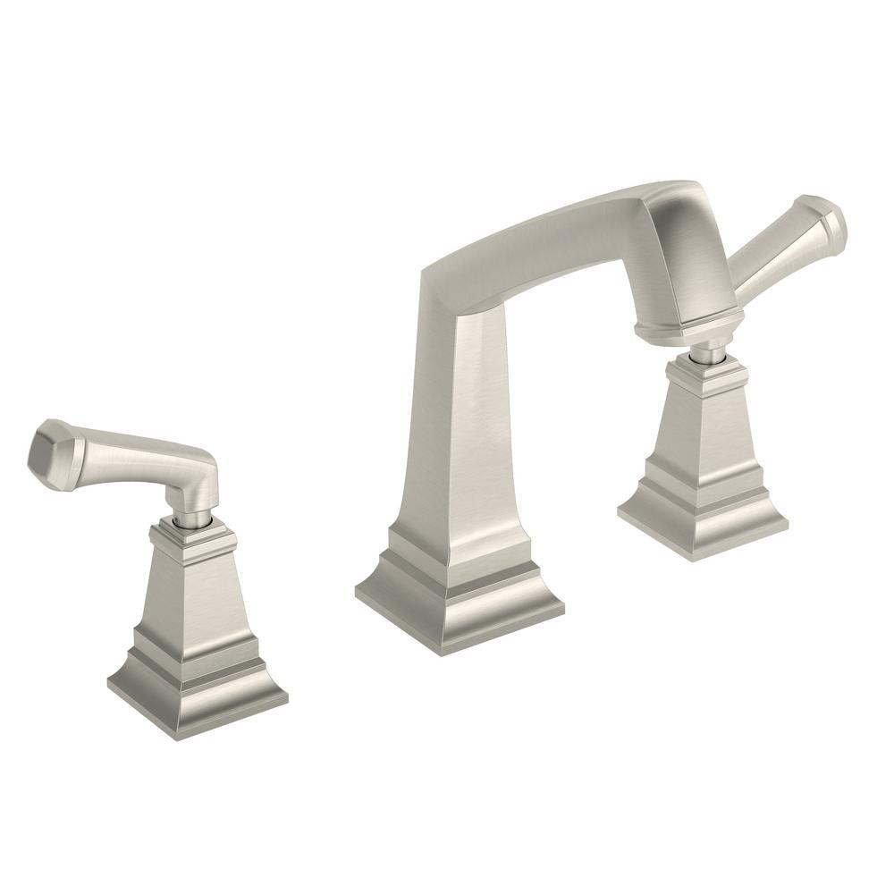 Oxford 2-Handle Deck Mounted Roman Tub Faucet in Satin Nickel