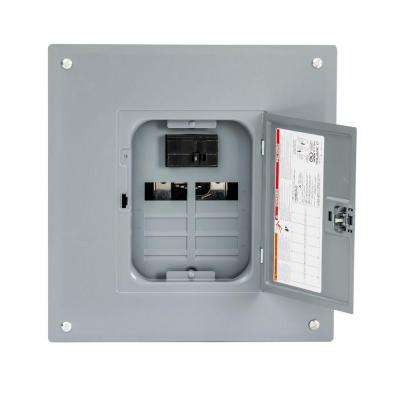 Homeline 100 Amp 8-Space 16-Circuit Indoor Main Breaker Plug-On Neutral Load Center with Cover