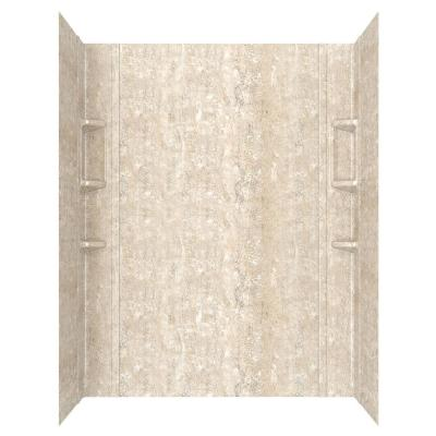 Ovation 32 in. x 60 in. x 72 in. 5-Piece Glue-Up Alcove Shower Wall Set in Sand Travertine