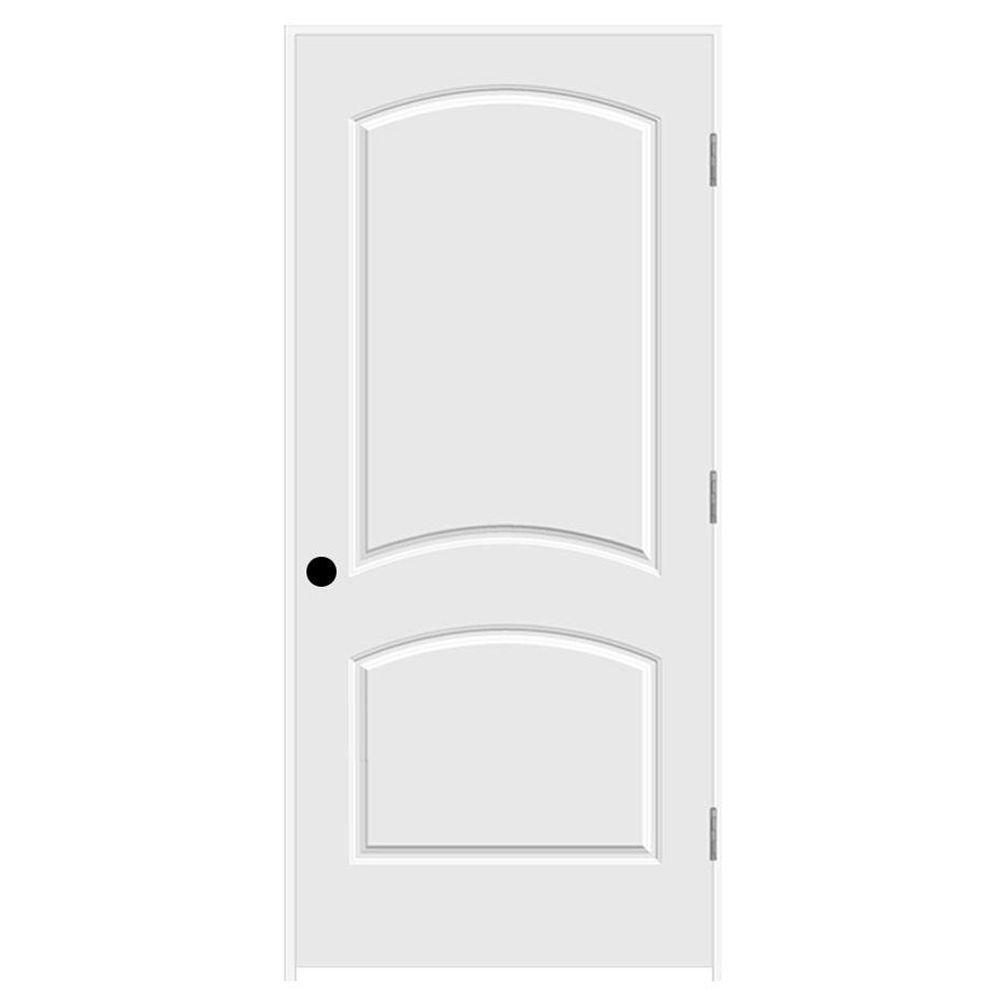 36 in. x 80 in. Primed Left-Hand C2050 2-Panel Arch Top