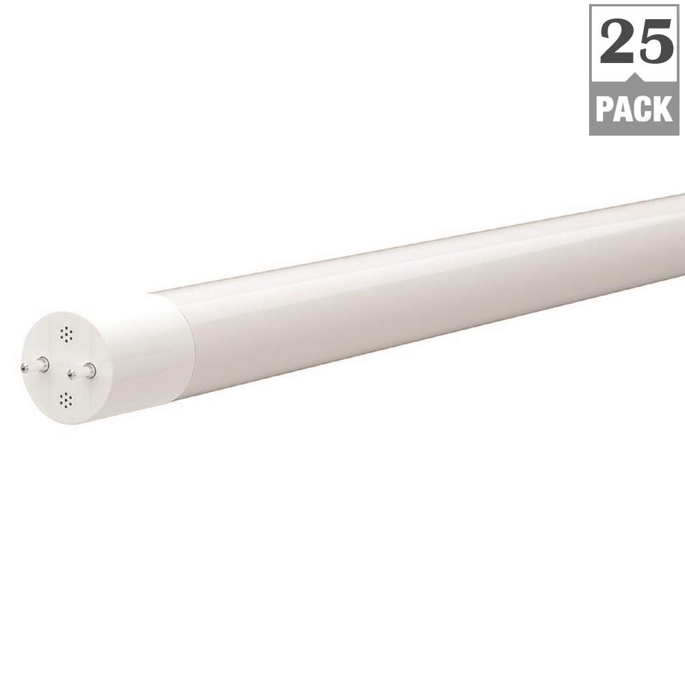 17W Equivalent Bright White T8 LED Light Bulb (25-Pack)