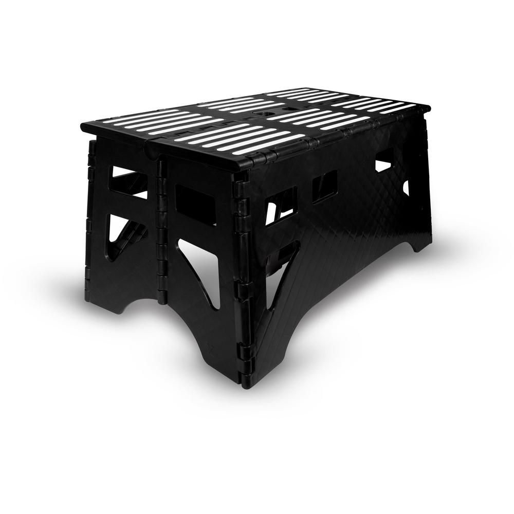 Expace 24 In Plastic Folding Step Stool With 600 Lbs