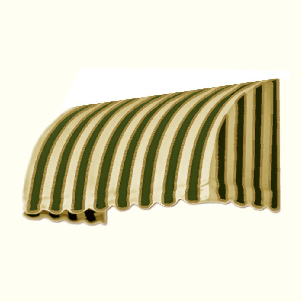 AWNTECH 25 ft. Savannah Window/Entry Awning (44 in. H x 36 in. D) in Sage/Linen/Cream Stripe