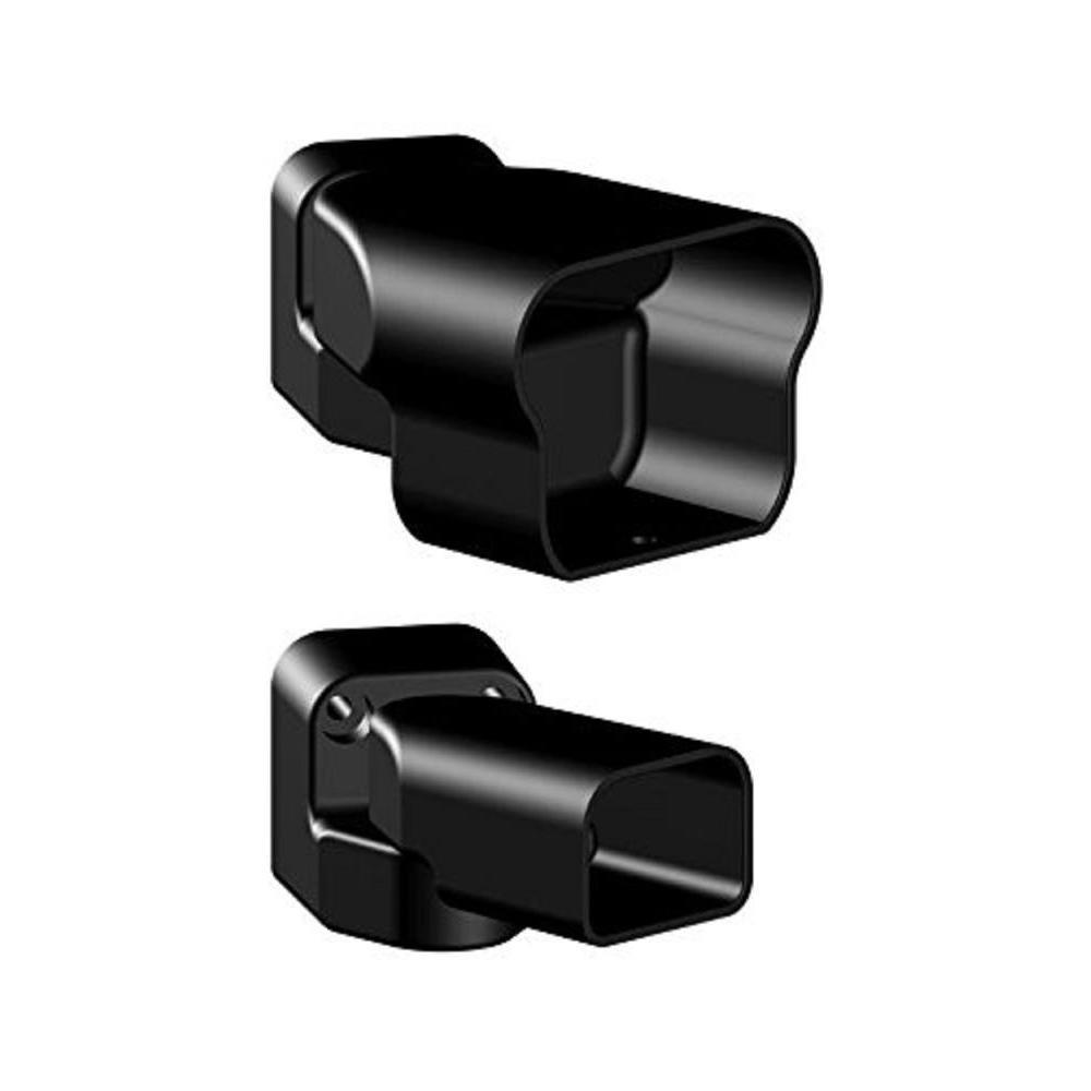 Aluminum Black Fine Textured Multi Angle Bracket Kit (2-Piece)
