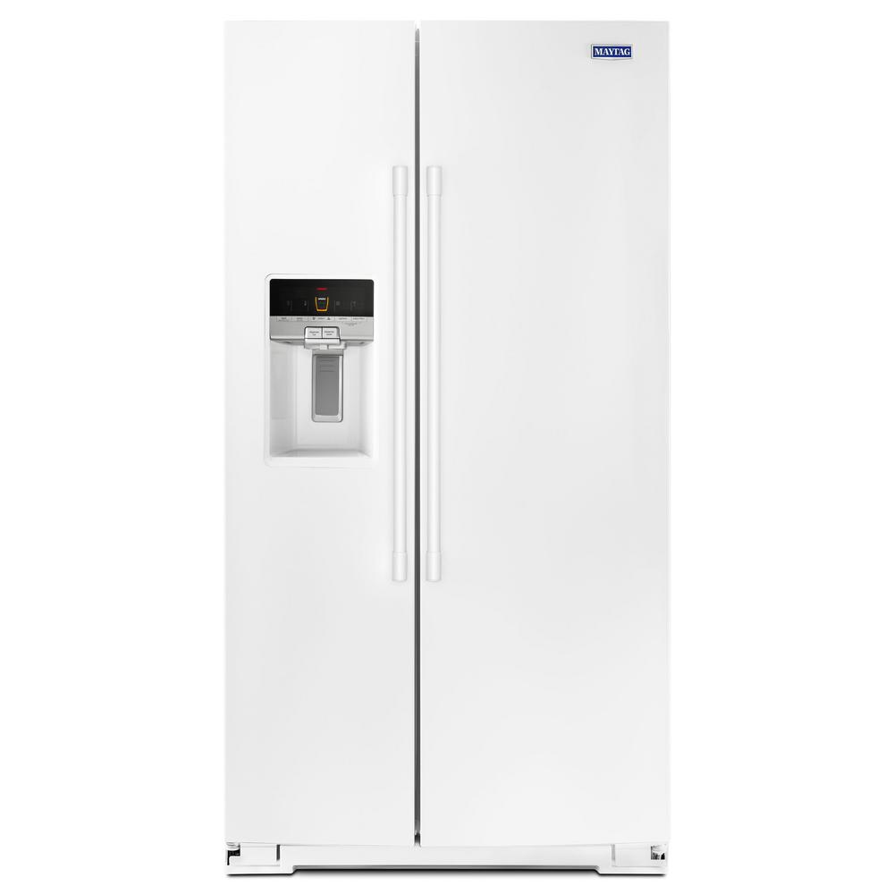 Maytag 26 cu. ft. Side by Side Refrigerator in White