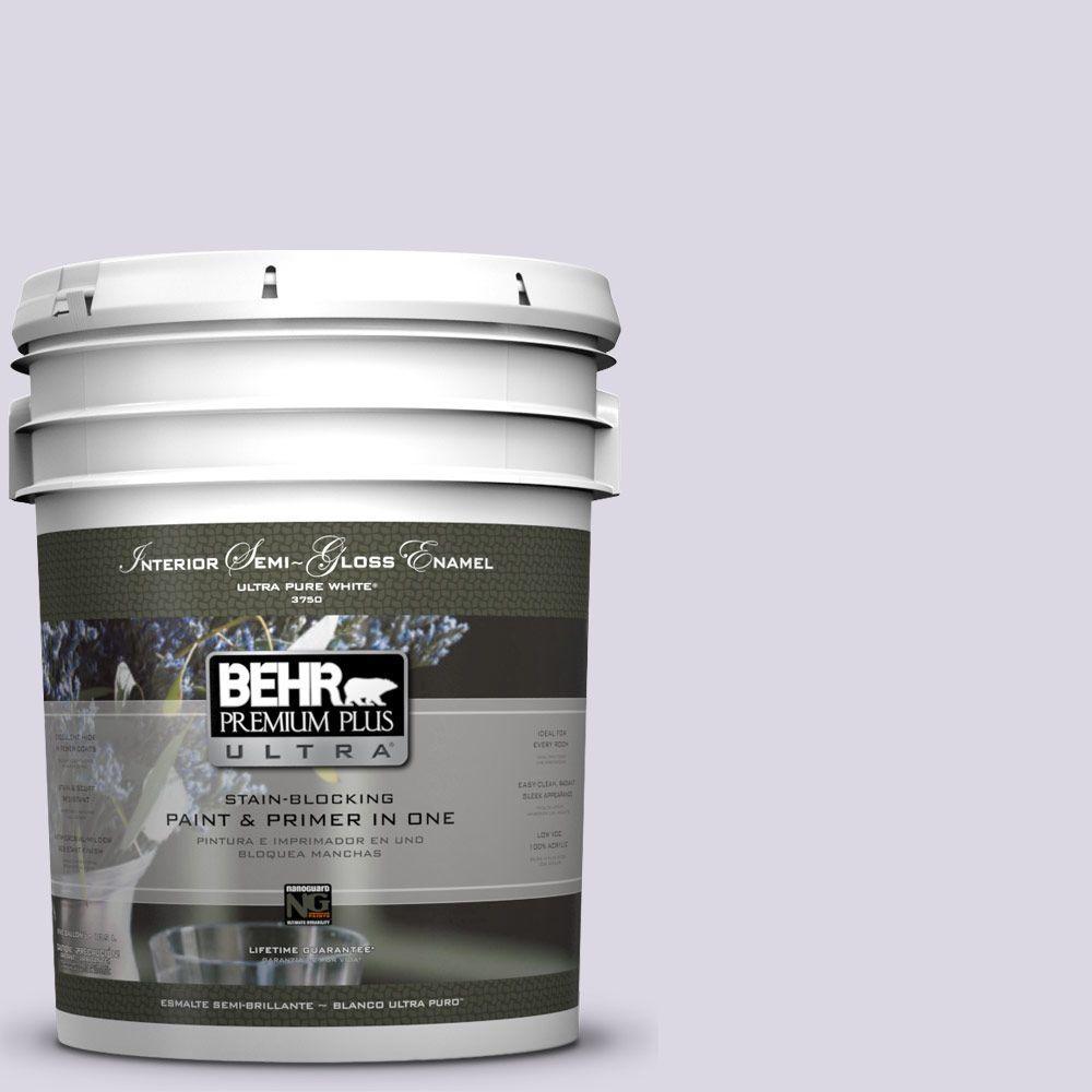 BEHR Premium Plus Ultra 5-gal. #S570-1 Misty Lavender Semi-Gloss Enamel Interior Paint