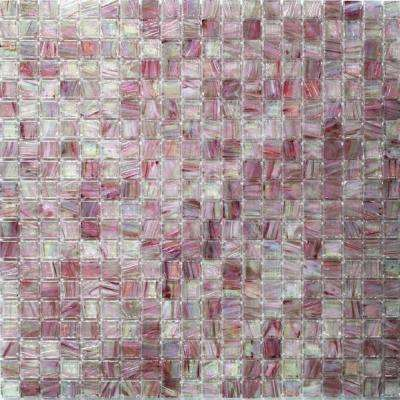 Breeze Plum Stained Glass Mosaic Wall Tile - 3 in. x 6 in. Tile Sample