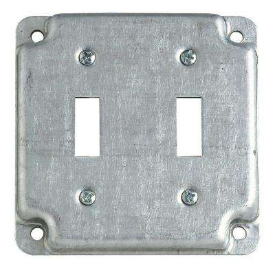 4 in. Square Surface Cover Double Toggle Device (Case of 10)