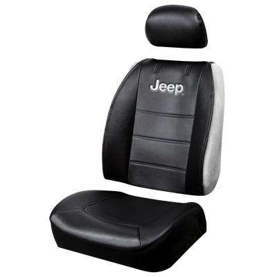 Jeep 26 in. x 22 in. x 0.5 in. Heavy-Duty Sideless 3-Piece Design Seat Cover with Cargo Pocket