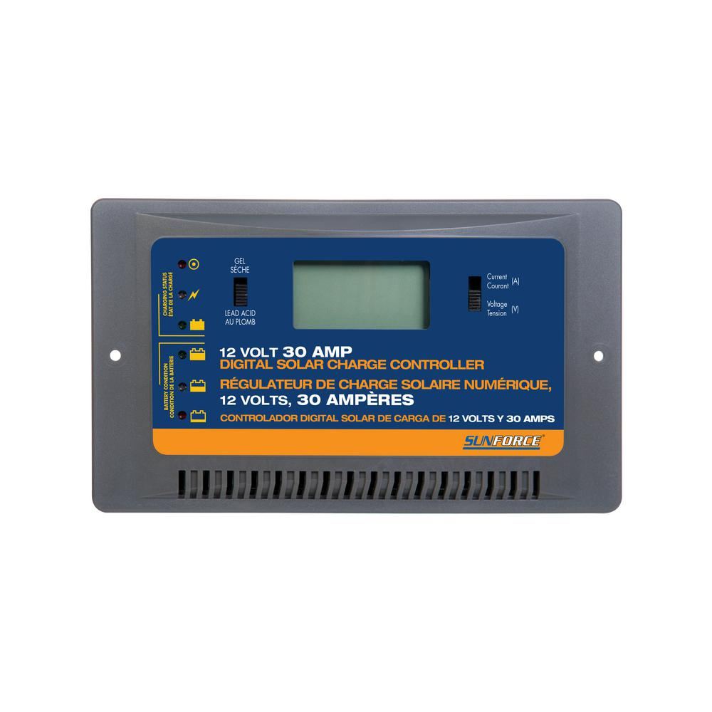 Sunforce 30 Amp Digital Charge Controller 60032 The Home Depot - Repair Wiring Scheme