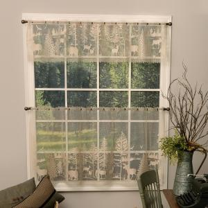 Lodge Hollow 15 in. L Polyester Valance in Natural