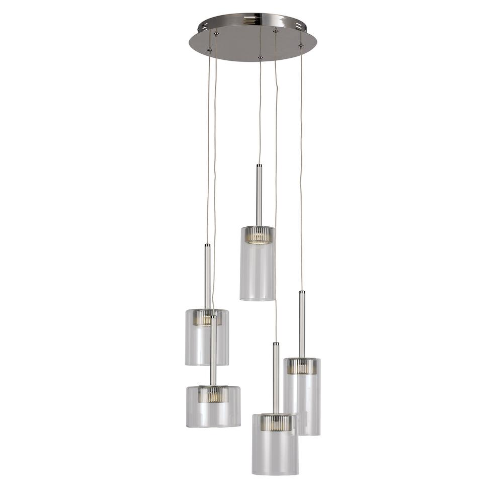 clear glass globe pendant light. Trans Globe 5-Light Polished Chrome LED Pendant With Clea. Clear Glass Light