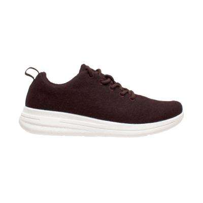 Women's Size 7 Burgundy Wool Casual Shoes