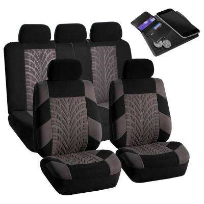 Polyester 47 in. x 23 in. x 1 in. Travel Master Full Set Car Seat Covers