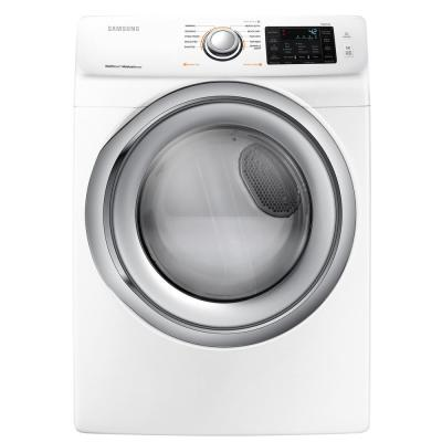 Samsung 75 Cu Ft Electric Dryer With Steam In White Dve45n5300w