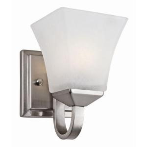 Torino 1 Light Satin Nickel Wall Mount Sconce