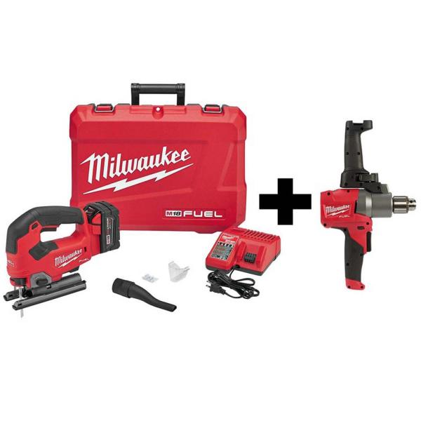 M18 FUEL 18-Volt Lithium-Ion Brushless CordlessKit with Free M18 FUEL 1/2 in. Mud Mixer